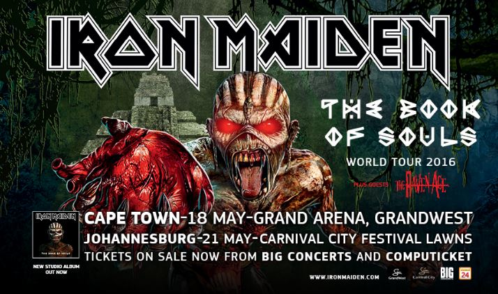 Iron Maiden – Book of Souls tour – Cape Town 2016